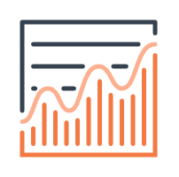 Icon of analytics chart
