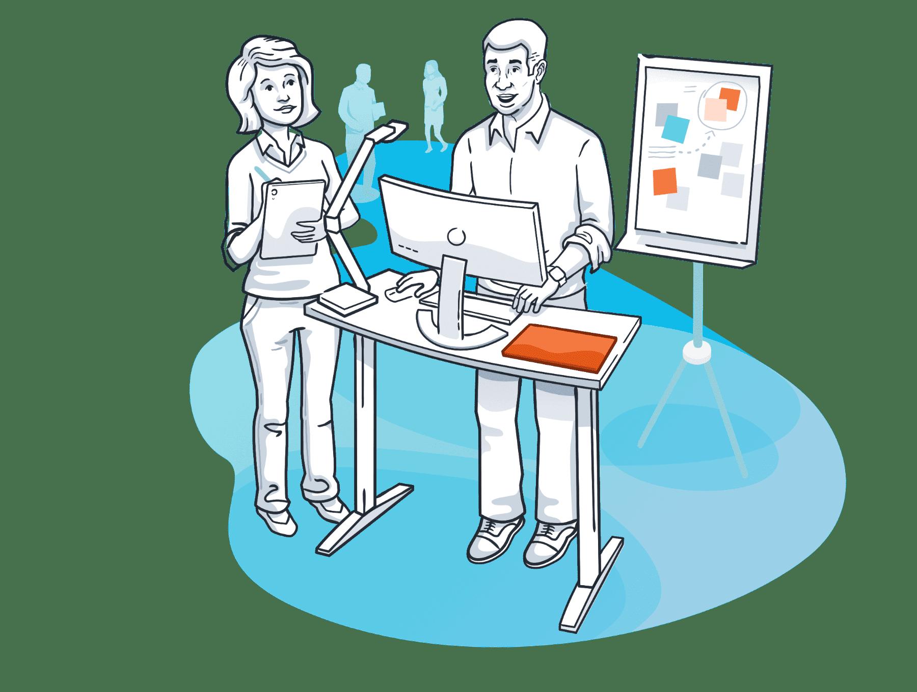 software user testing illustration