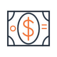 Money icon for financial services