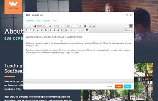 django content management system
